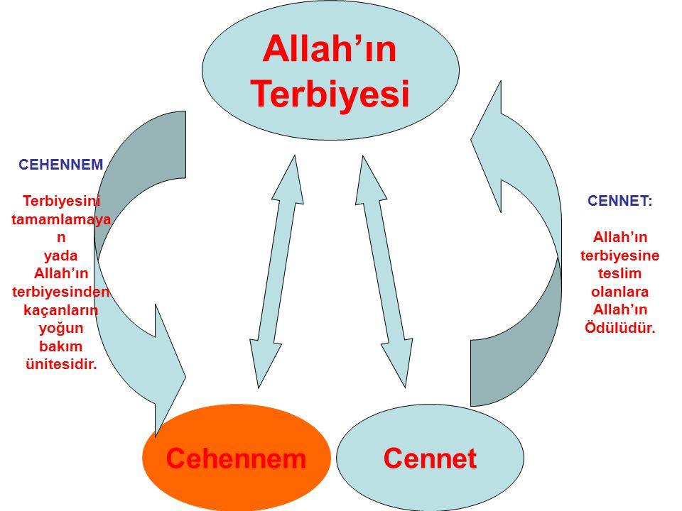 CENNET: Allah'ın terbiyesine teslim olanlara Allah'ın Ödülüdür.