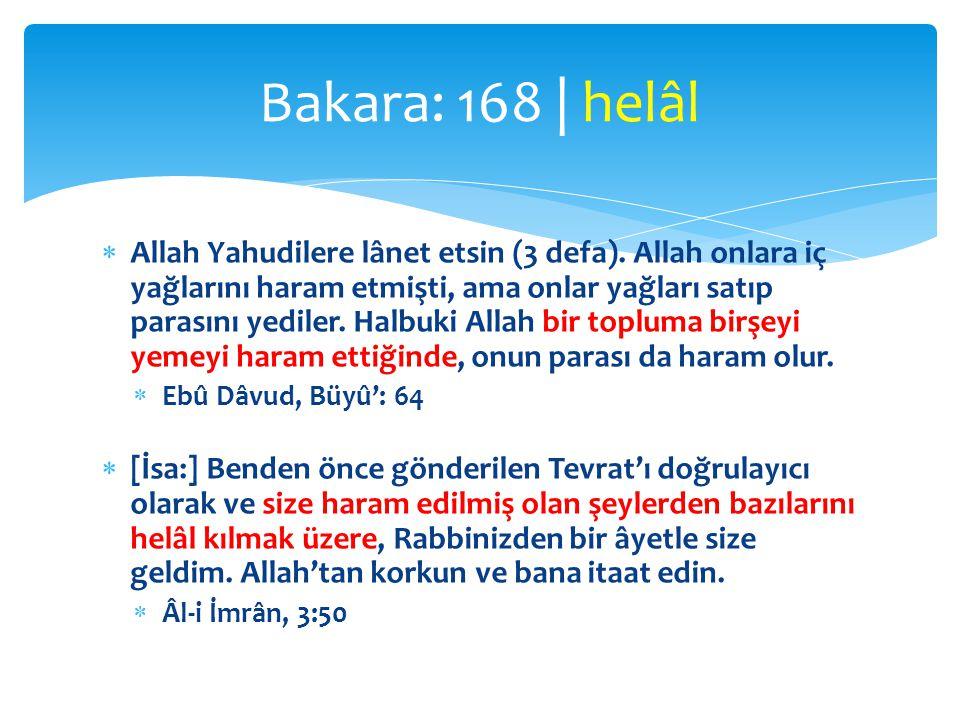 Bakara: 168 | helâl