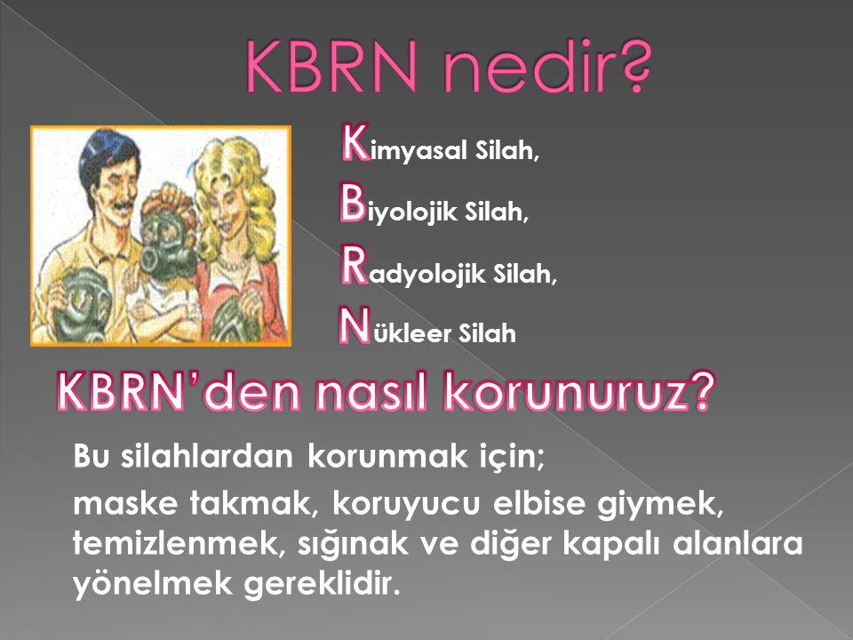 KBRN nedir Biyolojik Silah, Radyolojik Silah,