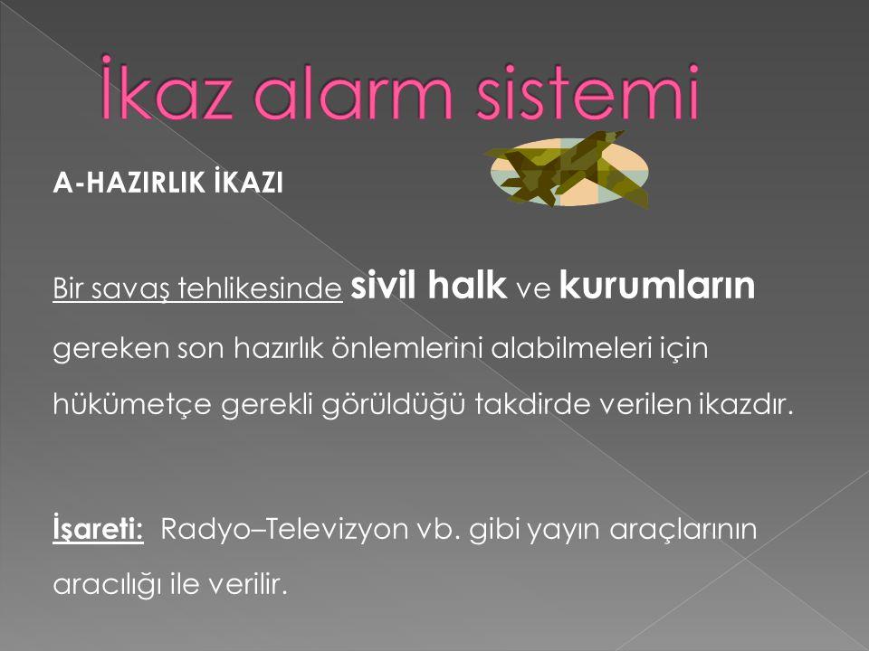 İkaz alarm sistemi