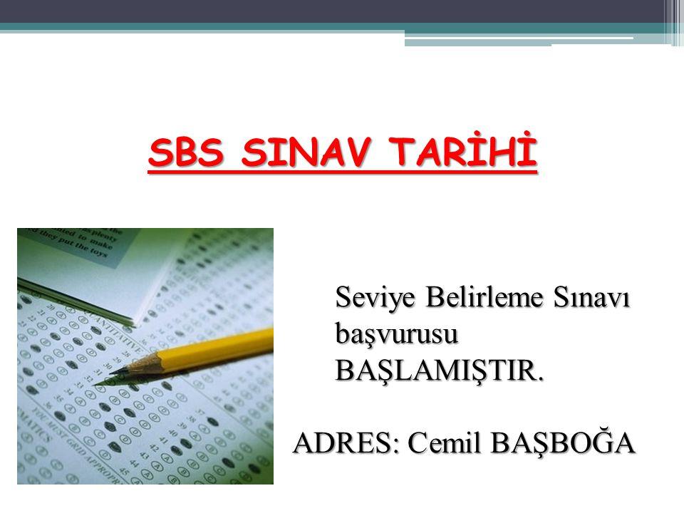 SBS SINAV TARİHİ Seviye Belirleme Sınavı başvurusu BAŞLAMIŞTIR.
