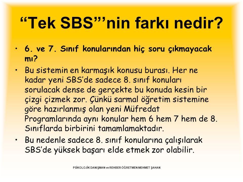 Tek SBS 'nin farkı nedir