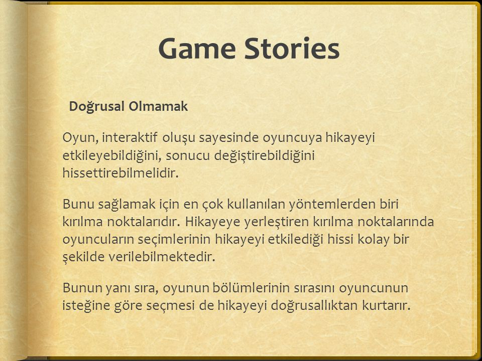 Game Stories