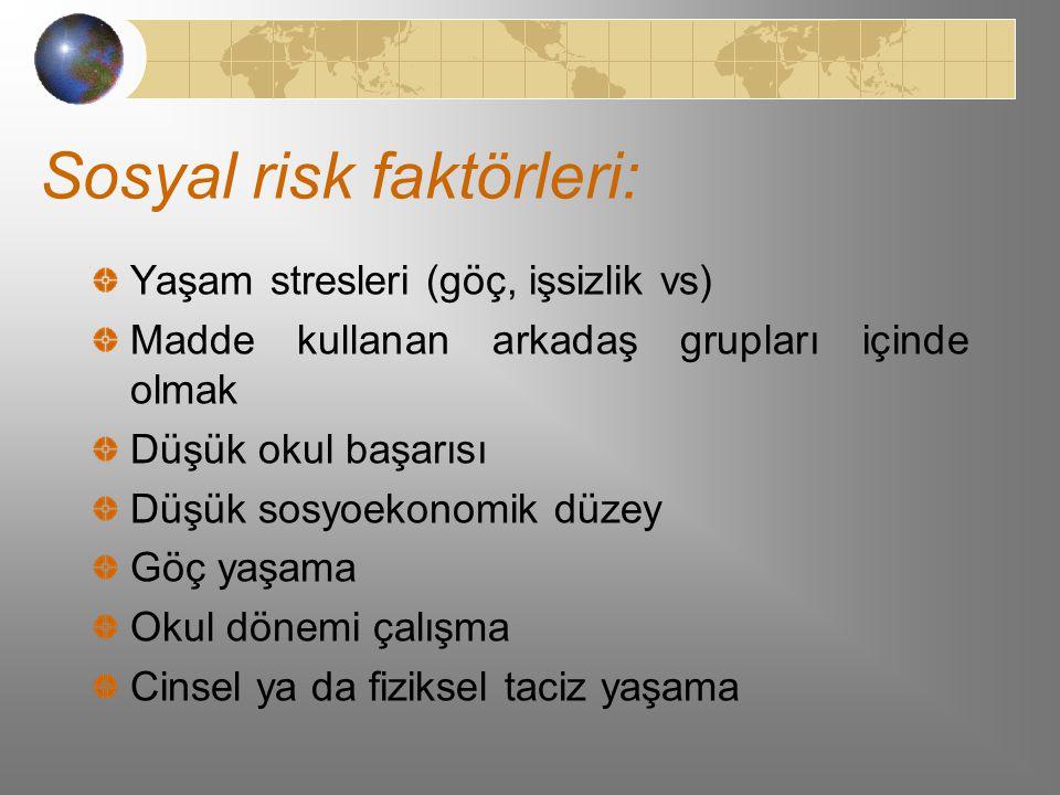 Sosyal risk faktörleri:
