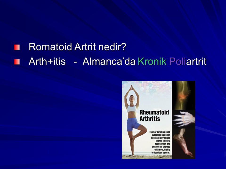 Romatoid Artrit nedir Arth+itis - Almanca'da Kronik Poliartrit