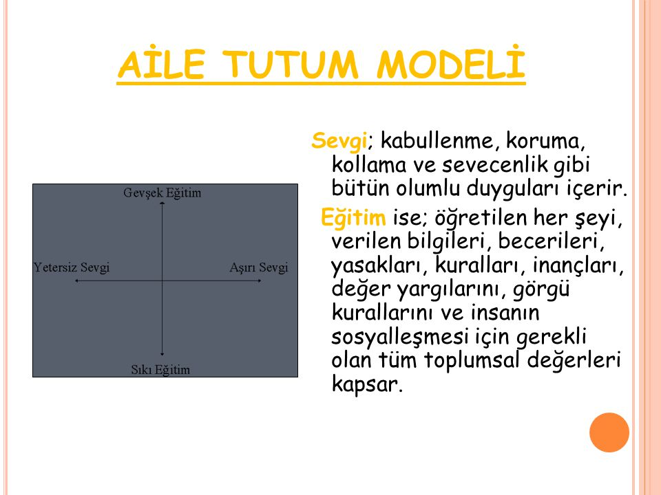 AİLE TUTUM MODELİ