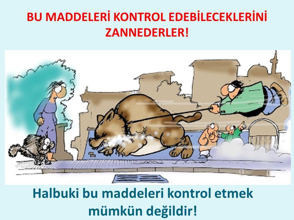 BU MADDELERİ KONTROL EDEBİLECEKLERİNİ ZANNEDERLER!