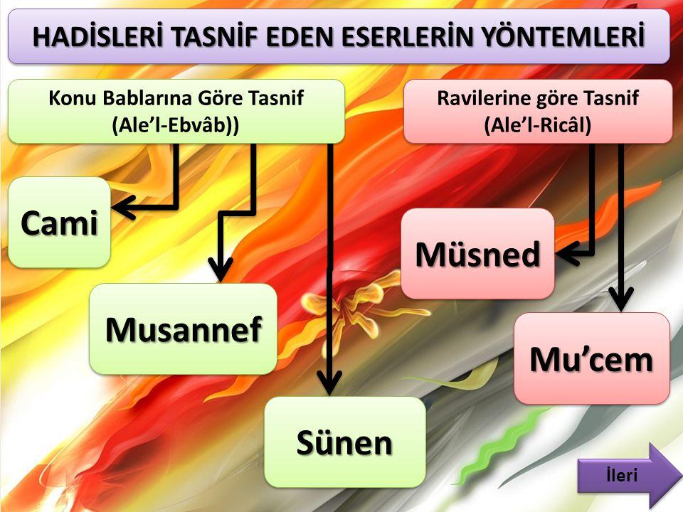 Cami Müsned Musannef Mu'cem Sünen