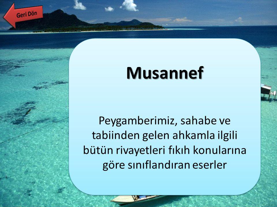 Geri Dön Musannef.