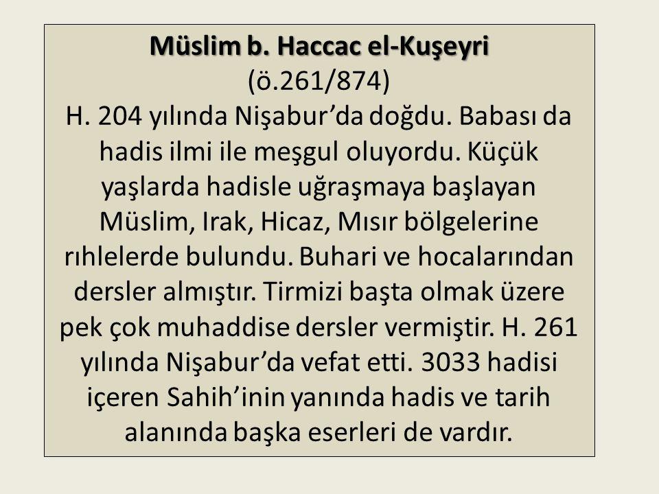Müslim b. Haccac el-Kuşeyri