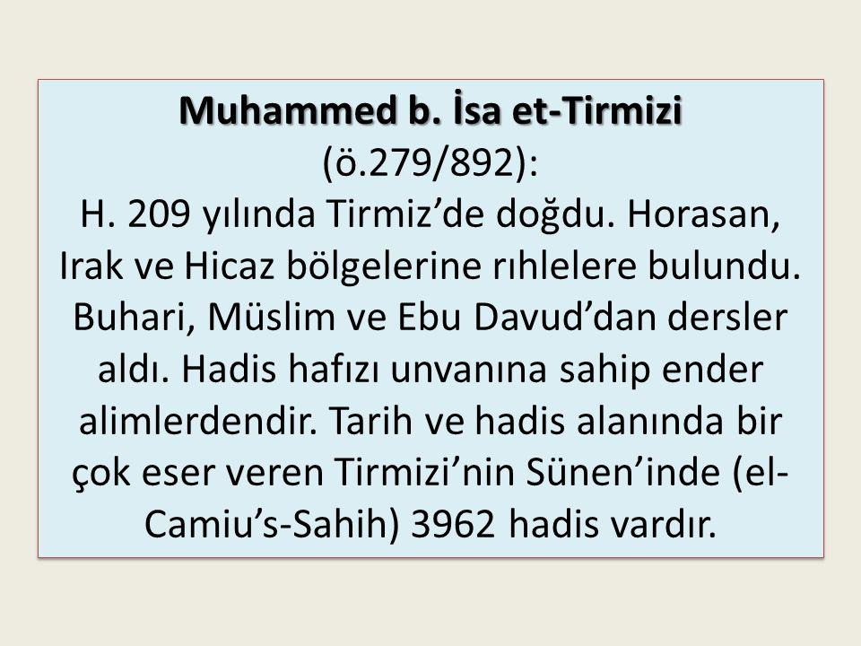 Muhammed b. İsa et-Tirmizi