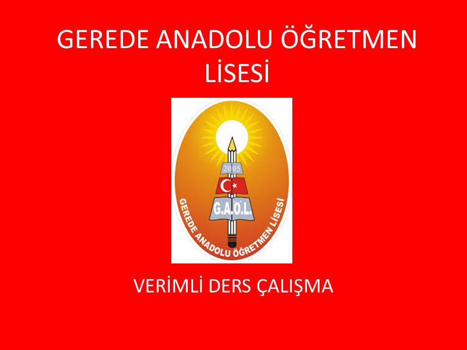 GEREDE ANADOLU ÖĞRETMEN LİSESİ