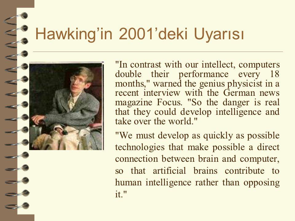 Hawking'in 2001'deki Uyarısı