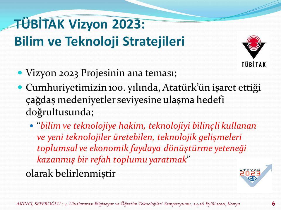TÜBİTAK Vizyon 2023: Bilim ve Teknoloji Stratejileri