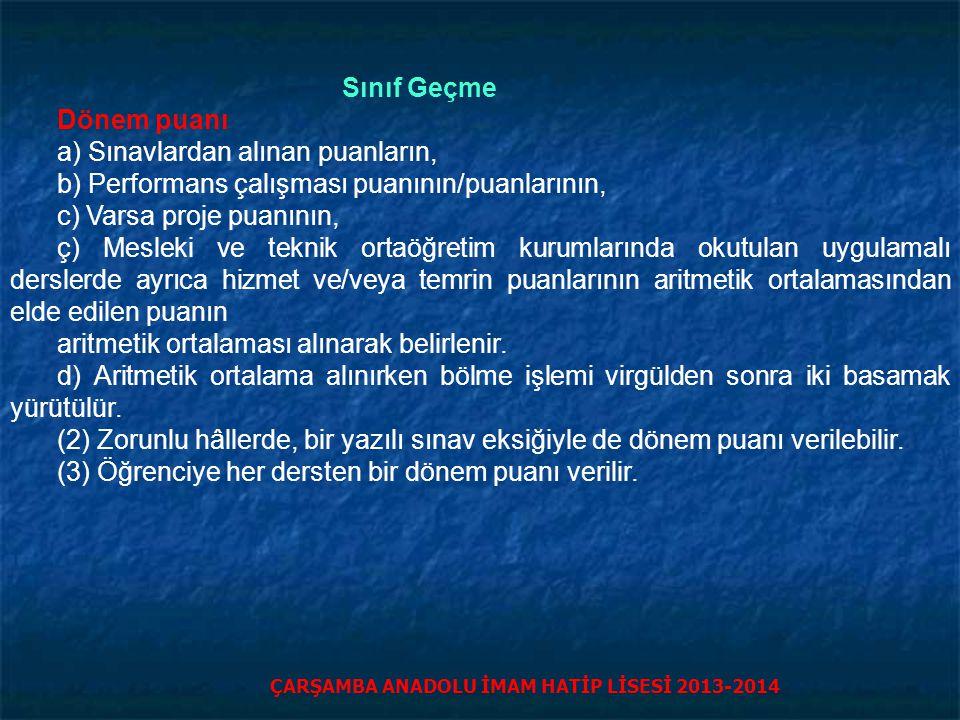 ÇARŞAMBA ANADOLU İMAM HATİP LİSESİ 2013-2014