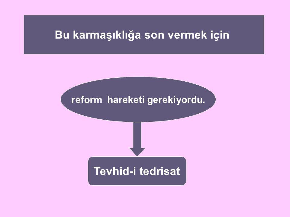 Bu karmaşıklığa son vermek için reform hareketi gerekiyordu.
