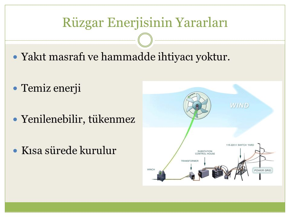 Rüzgar Enerjisinin Yararları