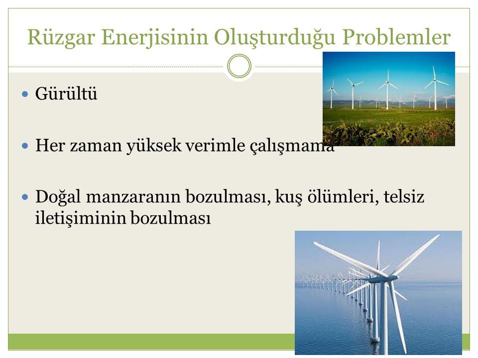 Rüzgar Enerjisinin Oluşturduğu Problemler