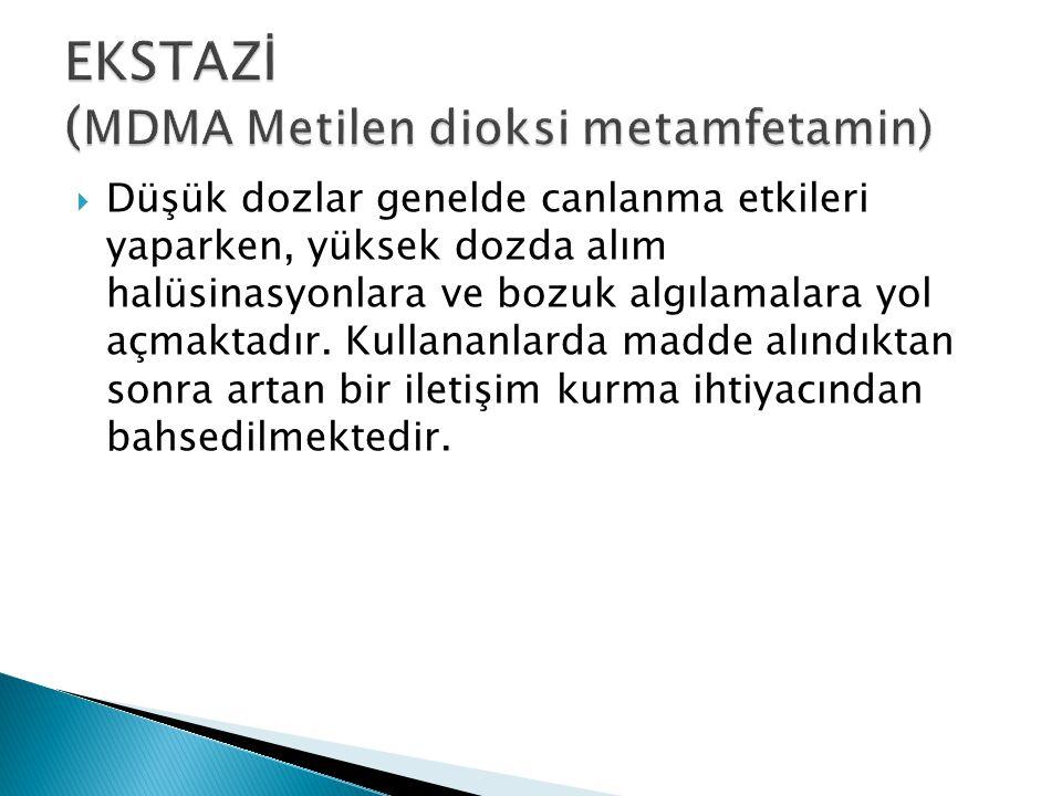 EKSTAZİ (MDMA Metilen dioksi metamfetamin)