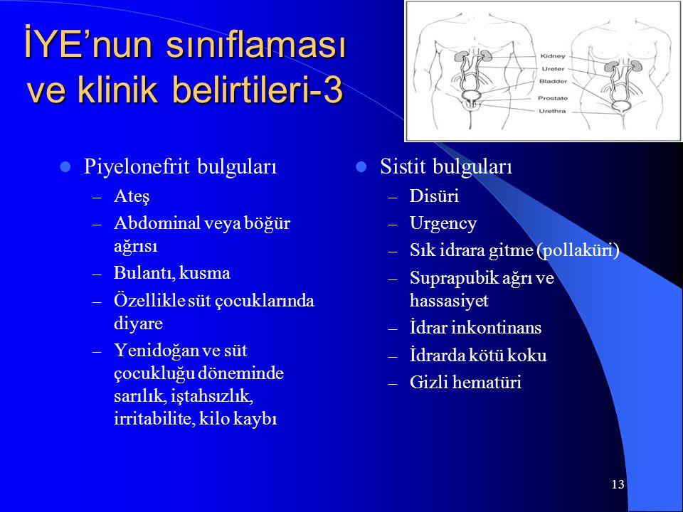 İYE'nun sınıflaması ve klinik belirtileri-3