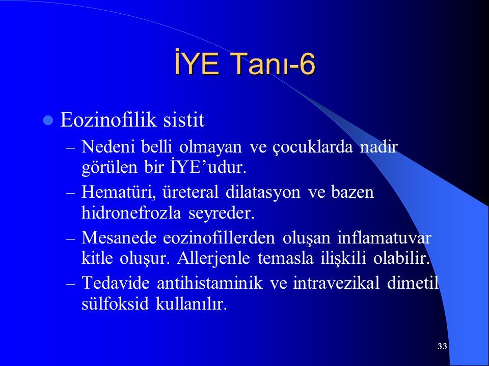 İYE Tanı-6 Eozinofilik sistit