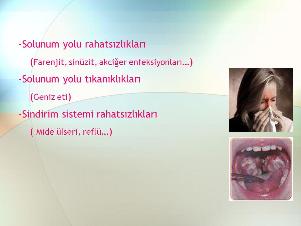 -Solunum yolu rahatsızlıkları