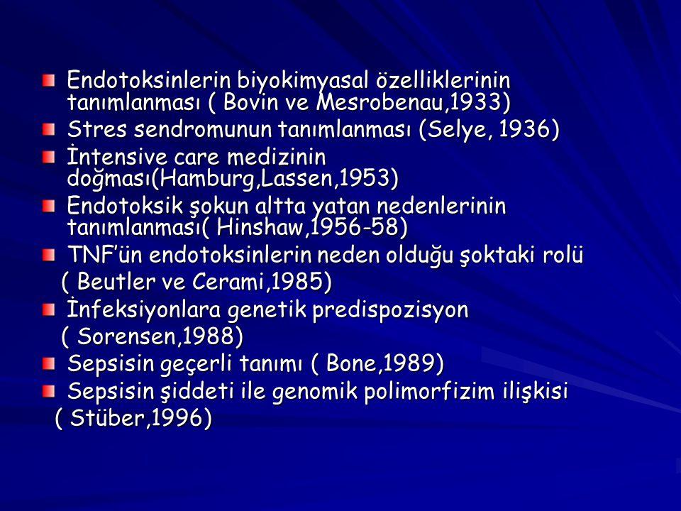 Endotoksinlerin biyokimyasal özelliklerinin tanımlanması ( Bovin ve Mesrobenau,1933)