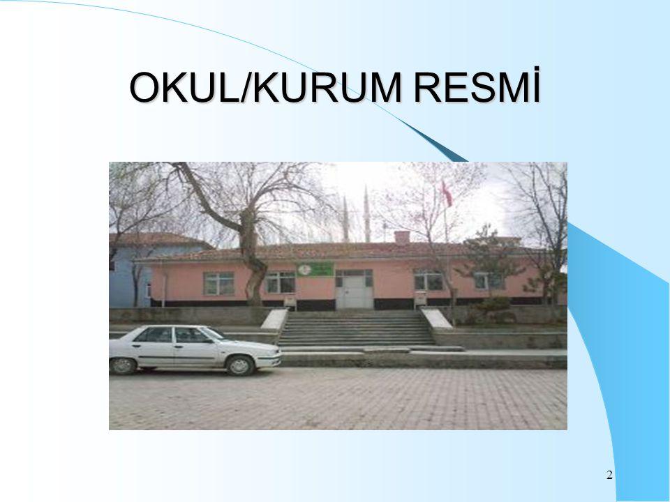 OKUL/KURUM RESMİ
