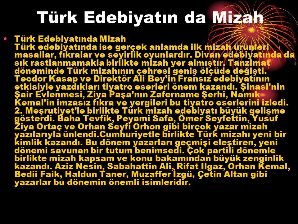 Türk Edebiyatın da Mizah
