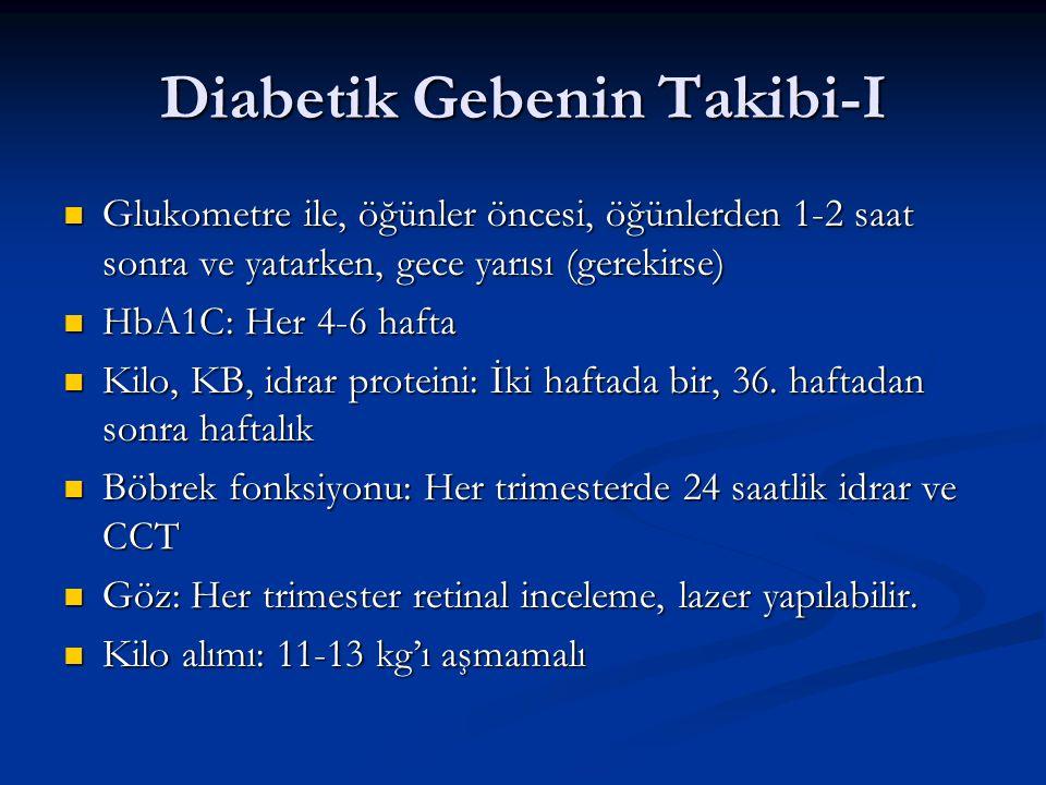 Diabetik Gebenin Takibi-I