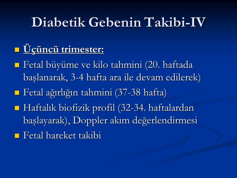 Diabetik Gebenin Takibi-IV
