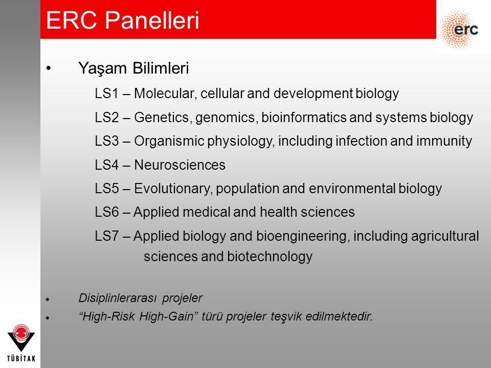 ERC Panelleri Yaşam Bilimleri
