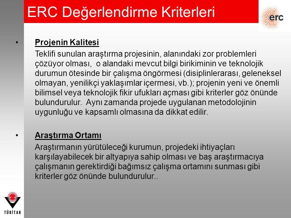 ERC Değerlendirme Kriterleri