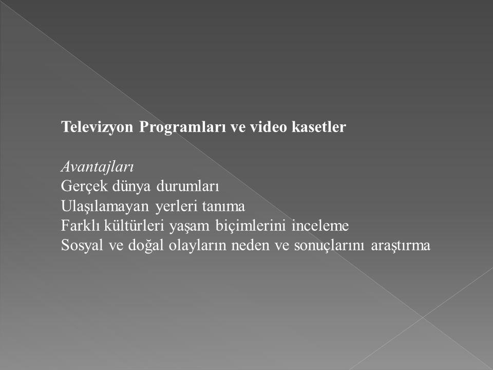Televizyon Programları ve video kasetler
