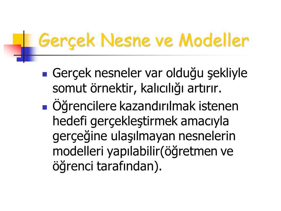 Gerçek Nesne ve Modeller