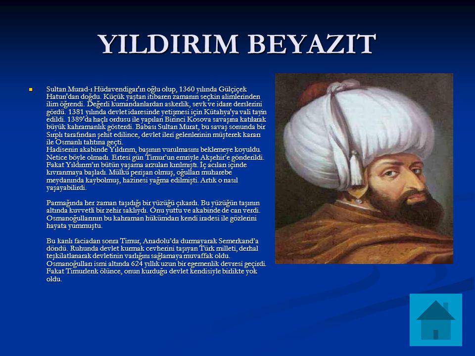 YILDIRIM BEYAZIT