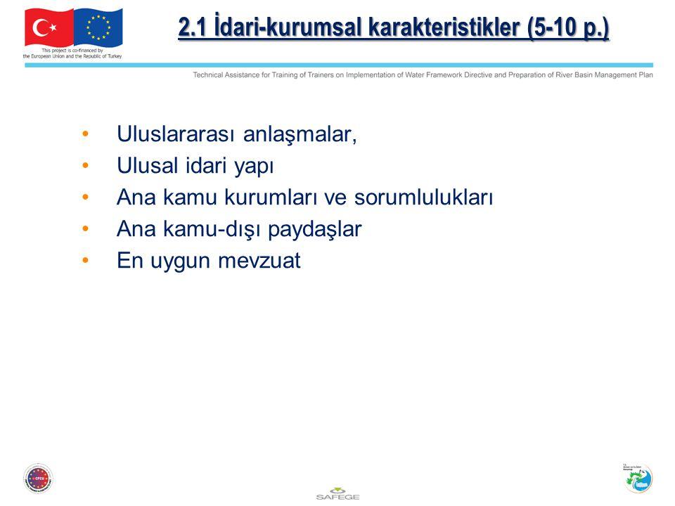 2.1 İdari-kurumsal karakteristikler (5-10 p.)