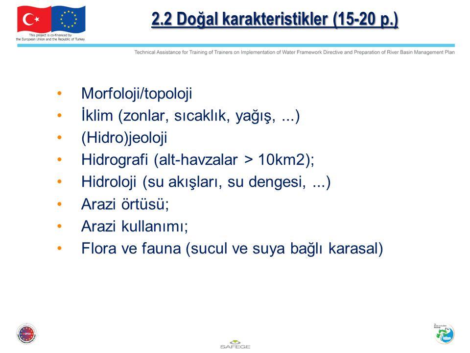 2.2 Doğal karakteristikler (15-20 p.)