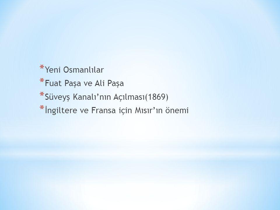Yeni Osmanlılar Fuat Paşa ve Ali Paşa.