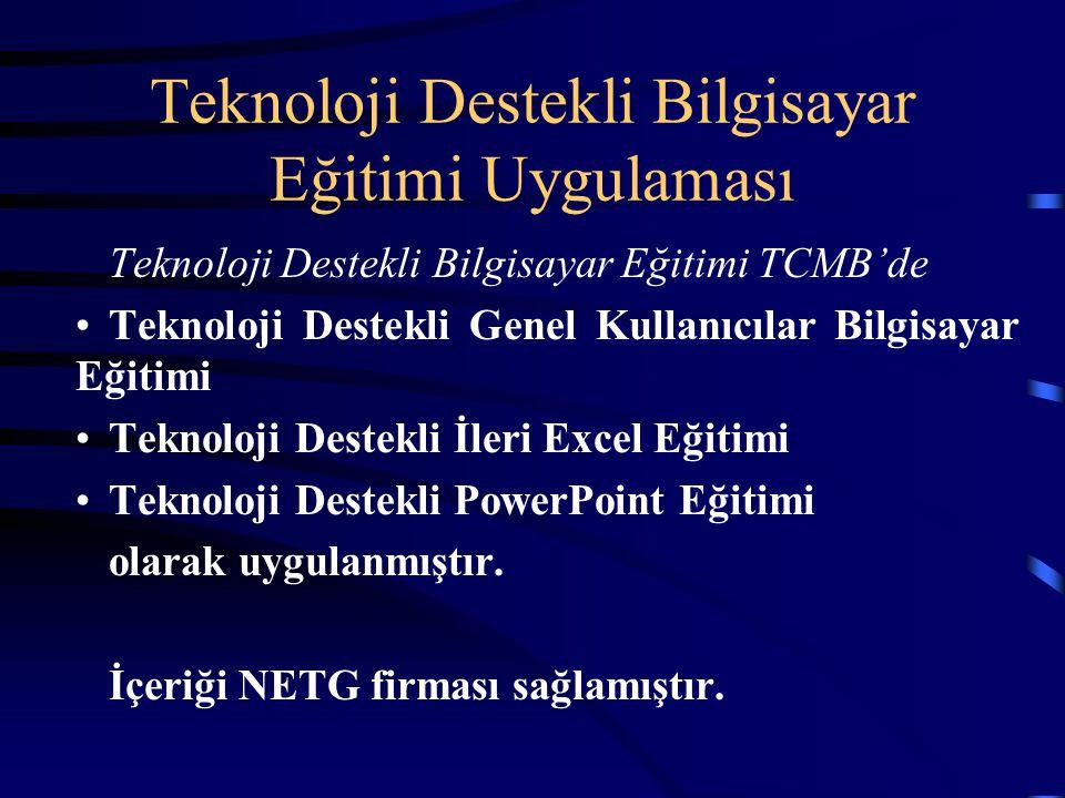 Teknoloji Destekli Bilgisayar Eğitimi Uygulaması