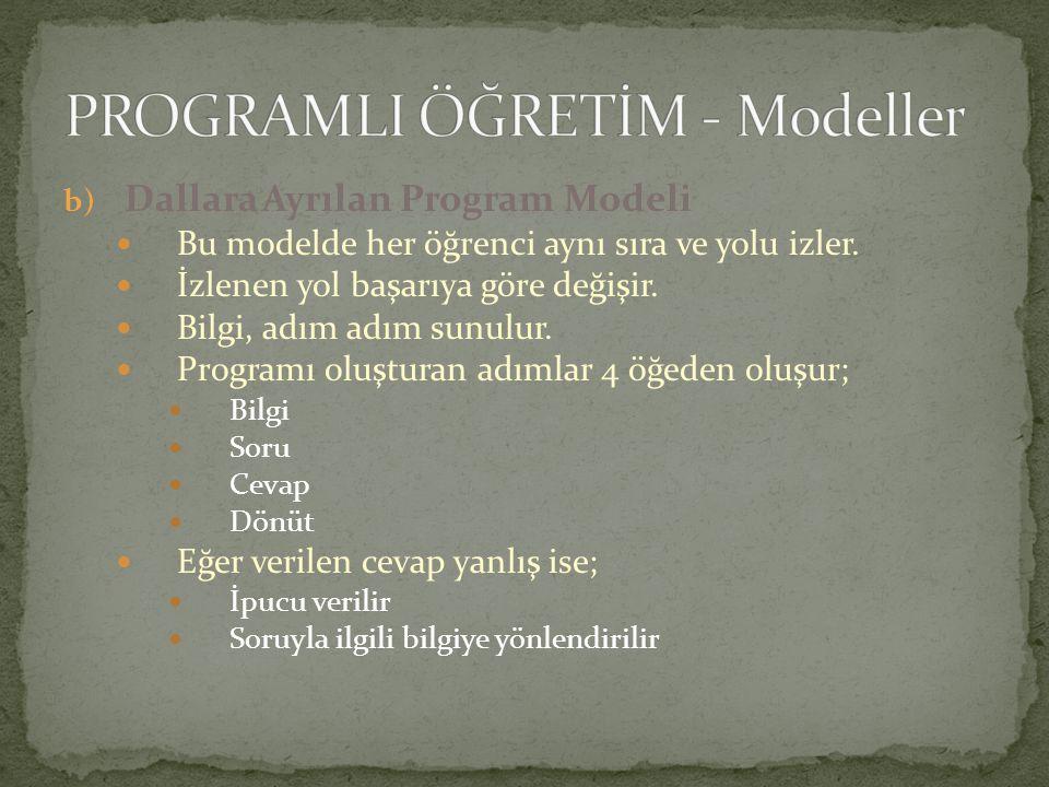 PROGRAMLI ÖĞRETİM - Modeller