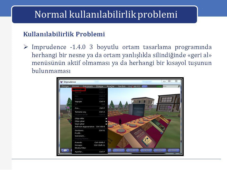 Normal kullanılabilirlik problemi