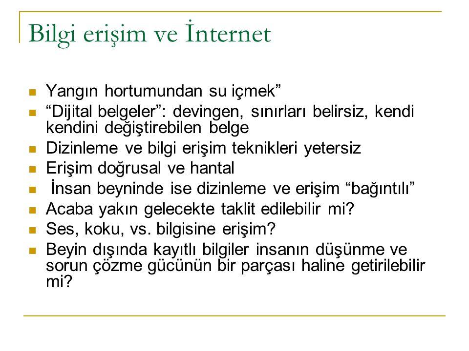 Bilgi erişim ve İnternet