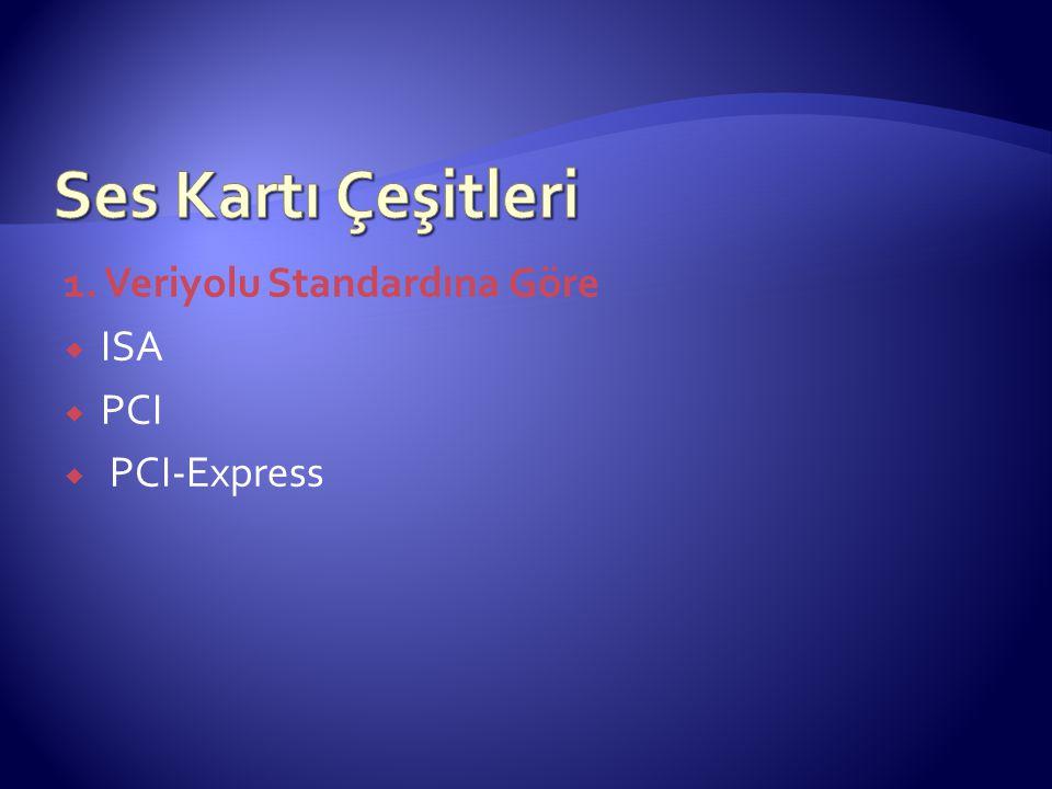 Ses Kartı Çeşitleri 1. Veriyolu Standardına Göre ISA PCI PCI-Express