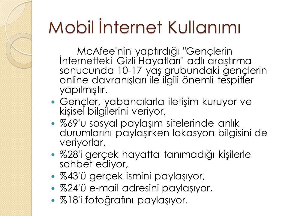 Mobil İnternet Kullanımı