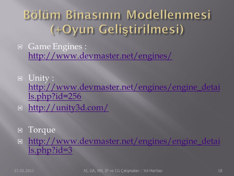 Bölüm Binasının Modellenmesi (+Oyun Geliştirilmesi)