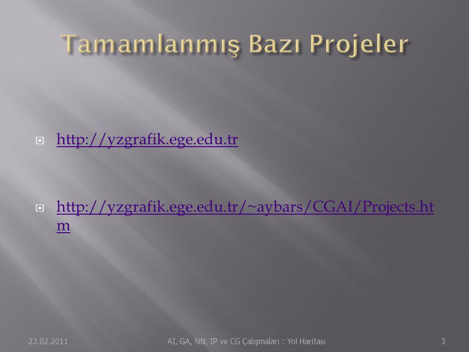 Tamamlanmış Bazı Projeler