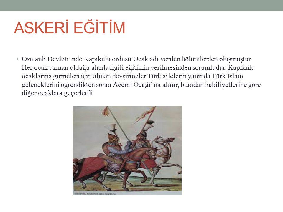 ASKERİ EĞİTİM