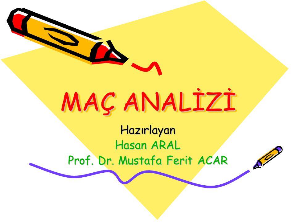 Hazırlayan Hasan ARAL Prof. Dr. Mustafa Ferit ACAR