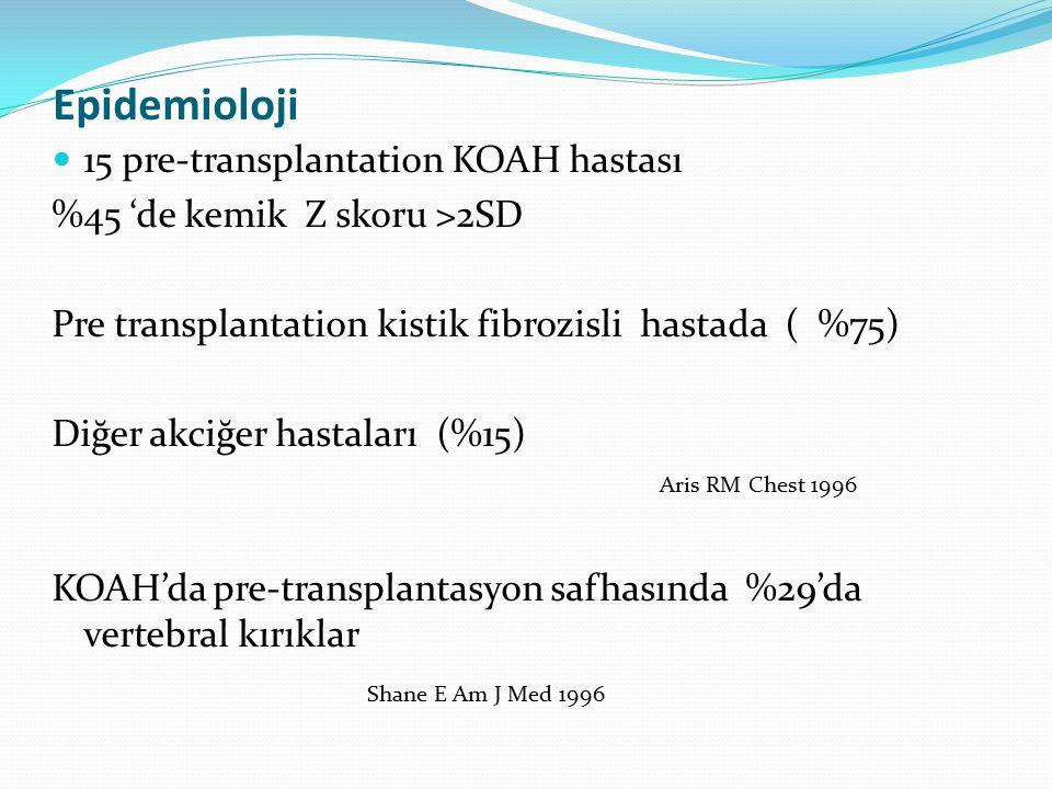 Epidemioloji 15 pre-transplantation KOAH hastası